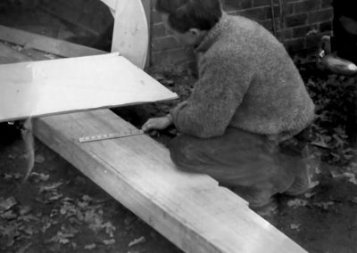 Brian checks the Keel moulding